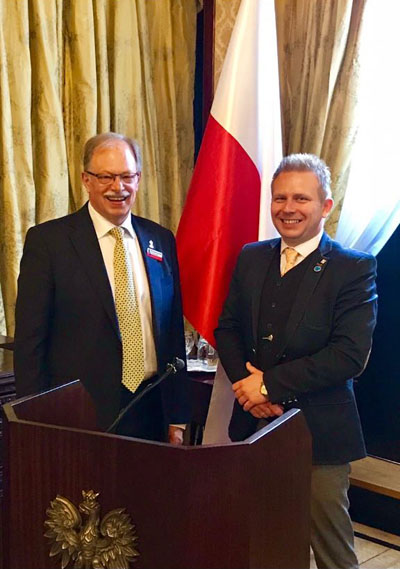 Chris Januszewski, The Polish Heritage Society Committee Member pictured with the After Brexit Support Managing Director Tomasz Wisniewski.