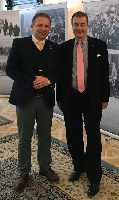 Dr Andrzej Suchcitz FRHist. S  Keeper of Archives. The Polish Institute and Sikorski Museum. pictured with the After Brexit Support Managing Director Tomasz Wisniewski.