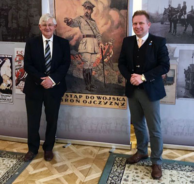 General (Retd.) John Drewienkiewicz (GeneralDZ) CB pictured with the After Brexit Support Managing Director Tomasz Wisniewski.