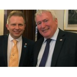 Colonel (Retired) Michael Russell pictured with the After Brexit Support Managing Director Tomasz Wisniewski.