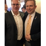 Mark Ponting, RAF VC-10 Captain Pilot, and Author, Boing 747-400 First Officer at Virgin Atlantic Airways pictured with the After Brexit Support Managing Director Tomasz Wisniewski.
