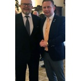 Dr Wojtek Rappak pictured with the After Brexit Support Managing Director Tomasz Wisniewski.