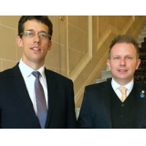 Jerzy Uklański, Second Secretary/Vice-Consul Embassy of the Republic of Poland in London pictured with the After Brexit Support Managing Director Tomasz Wisniewski.